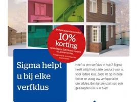 Verfklus in huis? In November 10% korting op de Sigma S2U Nova verven en muurverven